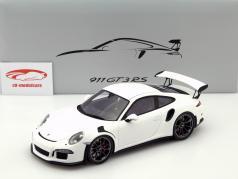 Porsche 911 (991) GT3 RS año 2015 blanco con Escaparate 1:18 Spark / 2nd elección