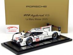Porsche 919 Hybrid #19 Ganador 24h LeMans 2015 Hülkenberg Tandy Bamber 1:18 Spark / 2. elección