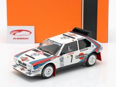 Lancia Delta S4 #7 winnaar Rallye Monte Carlo 1986 Toivonen, Cresto 1:18 Ixo