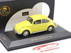 Volkswagen VW Beetle Mexico år 1985 gul 1:43 Ixo