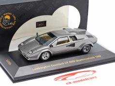 Lamborghini Countach LP 5000 Quattrovalvole jaar 1988 grijs metalen 1:43 Ixo