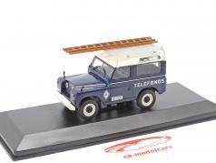 Land Rover Santana 88 Telefonica Bouwjaar 1989 blauw / Wit 1:43 Altaya