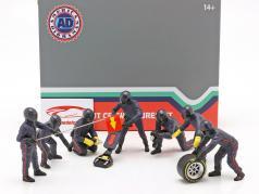 formule 1 Pit bemanning karakters Set #1 team blauw 1:18 American Diorama