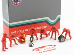 formule 1 Fosse équipage personnages Set #1 équipe rouge 1:43 American Diorama