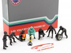 Fórmula 1 Cova equipe técnica personagens Set #1 equipe Preto 1:43 American Diorama