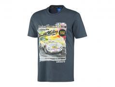Porsche T-Shirt Porsche 550 Double Victory 1954 Adidas graublau