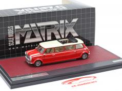 Mini Cooper Limousine year 1995 red / white 1:43 Matrix