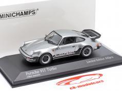 Porsche 911 (930) Turbo 3.3 建设年份 1979 银 1:43 Minichamps