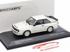 Audi Sport quattro 建設年 1984 白い 1:43 Minichamps