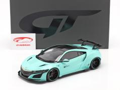 Honda NSX Customized car by LB-Works 2017 tiffany blauw 1:18 GT-Spirit
