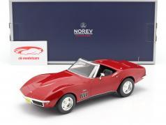Chevrolet Corvette Convertible Bouwjaar 1969 rood 1:18 Norev
