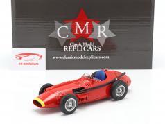 Maserati 250F fórmula 1 1957 Plain Body Edition rojo con amarillo nariz 1:18 CMR