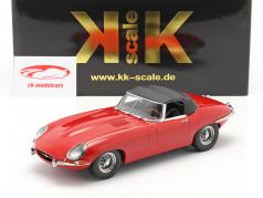 Jaguar E-Type Cabriolet Closed Top Series 1 LHD 1961 rood 1:18 KK-Scale