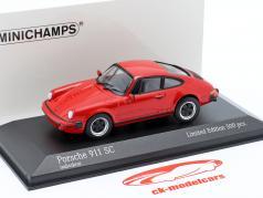 Porsche 911 SC Coupe 建设年份 1979 红 1:43 Minichamps
