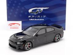 Dodge Charger SRT Hellcat Byggeår 2019 tonehøjde sort 1:18 GT-Spirit