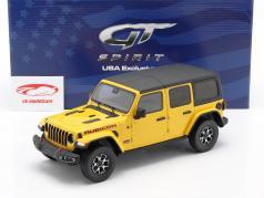 Jeep Wrangler Rubicon Hellayella Anno di costruzione 2019 giallo / nero 1:18 GT-Spirit