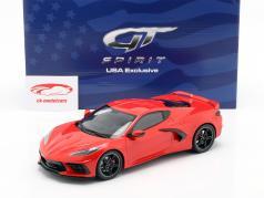 Chevrolet Corvette C8 Anno di costruzione 2020 rosso torcia 1:18 GT-Spirit
