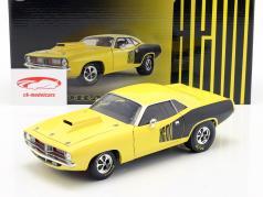 Plymouth Cuda Drag Car Anno di costruzione 1972 giallo / nero 1:18 GMP