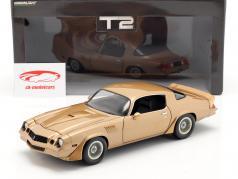 Chevrolet Camaro Z/28 1979 Filme Terminator 2 (1991) marrom dourado 1:18 Greenlight