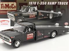 Ford F-350 Ramp Truck FoMoCo Anno di costruzione 1970 nero 1:18 GMP