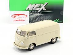Volkswagen VW Bulli T1 Van Année de construction 1963 crème blanc 1:24 Welly