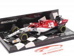 Kimi Räikkönen Alfa Romeo C38 #7 300 ° formula 1 GP Monaco 2019 1:43 Minichamps