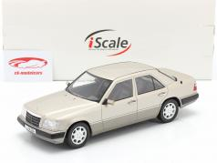 Mercedes-Benz E班 (W124) 建设年份 1989 烟熏银 1:18 iScale