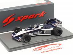 R. Patrese Brabham BT52B #6 Vincitore South African GP formula 1 1983 1:43 Spark