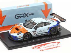 Porsche 911 GT3 R GPX Gulf #36 优胜者 Coppa Florio 12h Sizilien 2020 1:43 Spark