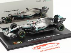 Lewis Hamilton Mercedes-AMG F1 W10 EQ #44 Fórmula 1 Campeão mundial 2019 1:43 Bburago