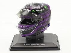 L. Hamilton #44 Mercedes-AMG Petronas Formula 1 Campione del mondo 2020 casco 1:5 Spark