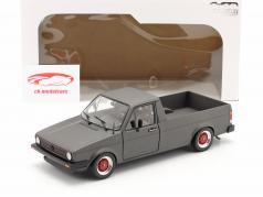 Volkswagen VW Caddy MK1 Custom II Ano de construção 1982 esteira cinza escuro 1:18 Solido
