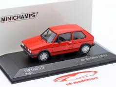 Volkswagen VW Golf 1 GTi Année de construction 1983 rouge 1:43 Minichamps