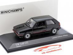 Volkswagen VW Golf II GTi Año de construcción 1985 negro 1:43 Minichamps