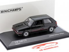 Volkswagen VW Golf II GTi Byggeår 1985 sort 1:43 Minichamps
