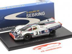 Porsche 917K #3 vencedor 12h Sebring 1971 Elford, Larrousse 1:43 Spark