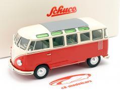 Volkswagen VW Typ 2 T1b Samba Bus vermelho / bege 1:32 Schuco