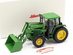 John Deere 6300 traktor Med Frontlæsser Byggeår 1992-97 grøn 1:32 Schuco