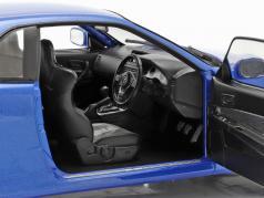 Nissan Skyline GT-R (R34) 建設年 1999 ベイサイド 青い 1:18 Solido