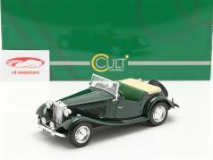 MG TD RHD Anno di costruzione 1953 woodland verde 1:18 Cult Scale