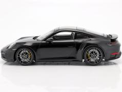 Porsche 911 (992) Turbo S year 2020 deep black metallic 1:18 Minichamps