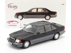 Mercedes-Benz S500 (W140) Ano de construção 1994-98 Preto 1:18 iScale