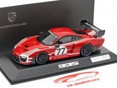 Porsche 935 på Grundlag 911 GT2 RS Clubsport Salzburg #77 rød / hvid 1:43 Spark