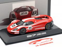 Porsche 917 Living Legend Concept Car #23 rouge / blanc 1:43 Spark