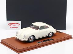 Porsche 356A Baujahr 1955 weiß mit Vitrine 1:18 BBR