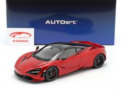 McLaren 720S Byggeår 2017 rød metallisk 1:18 AUTOart