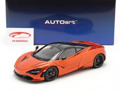 McLaren 720S Byggeår 2017 orange metallisk 1:18 AUTOart