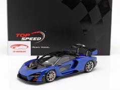 McLaren Senna Ano de construção 2018 antares azul / Preto 1:18 TrueScale
