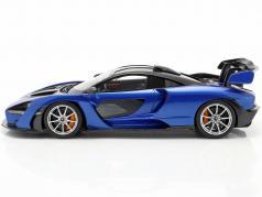 McLaren Senna Année de construction 2018 antares bleu / noir 1:18 TrueScale