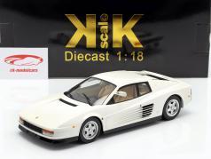 Ferrari Testarossa Monospecchio Amerikansk version Byggeår 1984 hvid 1:18 KK-Scale